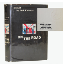 Beat Generation writer Jack Kerouac's personally owned first edition copy of his 1957 classic book On The Road (est.  $5,000-$6,000).