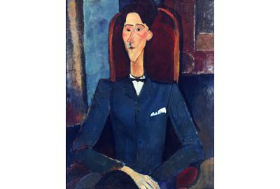 Amedeo Modigliani, Italian, 1884–1920: Jean Cocteau, 1916–17.  Oil on canvas, 100.4 x 81.3 cm.  The Henry and Rose Pearlman Collection on long-term loan to the Princeton University Art Museum.
