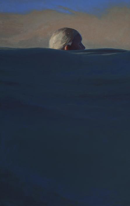 Shane McClatchey, Island (2), Oil on Panel, 2017, 41 x 28