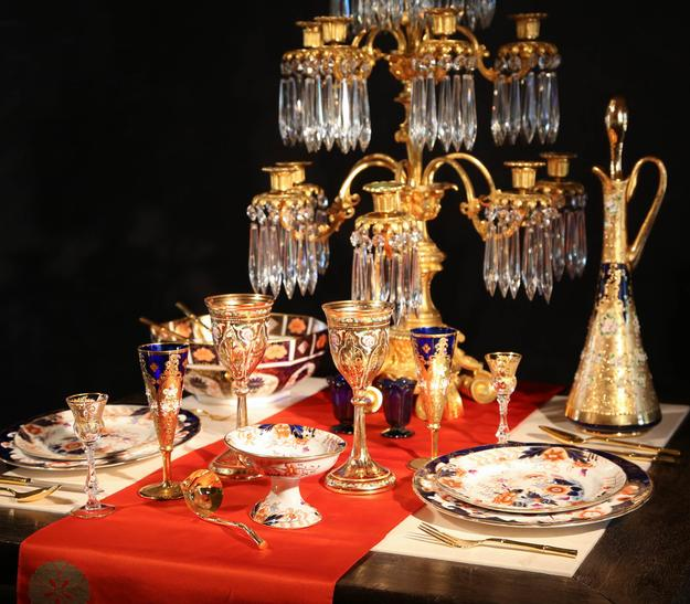 "A table-setting set the stage for ""You're Invited: The Art of Dining"" at Lark Mason Associates"