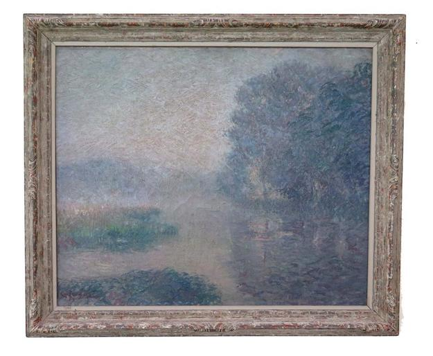 """La Riviere, Le Matin"" by Gustave Loiseau is being offered at auction through Peachtree & Bennett on Invaluable.com."