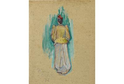 Entitled La Promeneuse (The Walker), this oil painting by Henri de Toulouse-Lautrec is an incredible rarity on the market.