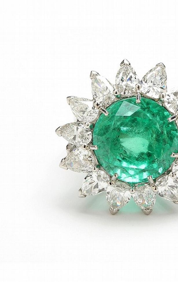 This Colombian Emerald and Diamond Ring is being offered at auction by Leland Little Auctions on June 12, 2015, with online bidding available on Invaluable.com.