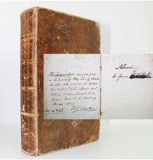 Copy of the book The Miscellaneous Works of Oliver Goldsmith, by the famed American author Washington Irving, with an ownership signature by Abraham Lincoln ($175,000).
