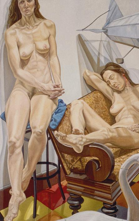 Philip Pearlstein, Models and Blimp, 1991 © Philip Pearlstein.  Courtesy Betty Cuningham Gallery / Saatchi Gallery.