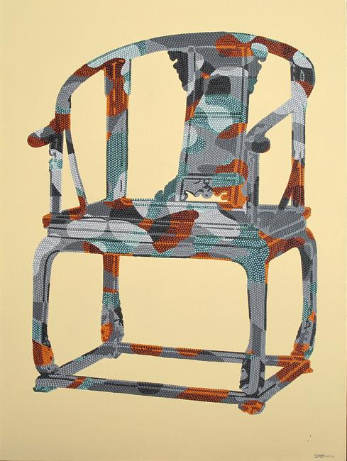 Liu Sheng-Chair from the Palace- CanvasRicePaper&Acrylic-90X110cm-2011-Hao Space.