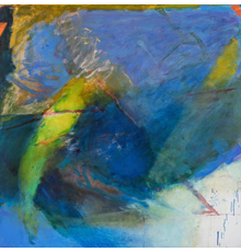 """EMILY MASON, American (1932-2019), Gentian Waves, oil on canvas, signed and dated lower left """"Emily Mason 1986-87"""""""