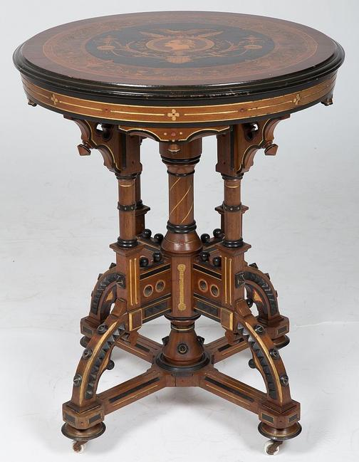 Lot 1 – A Rare Victorian Centennial Table, 1776-1876