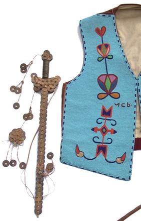 Historic fully-beaded Cree-made Native American Hopi vest with traditional floral motif (est.  $10,000-$20,000).