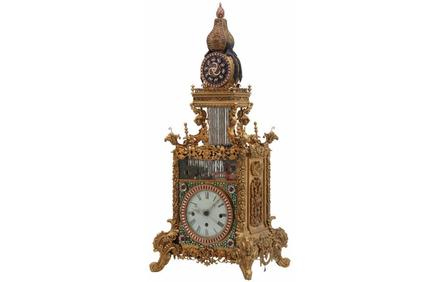 This rare antique Chinese animated triple fusee bracket clock sold for a stunning $1.27 million at Fontaine's Auction Gallery on May 21st.