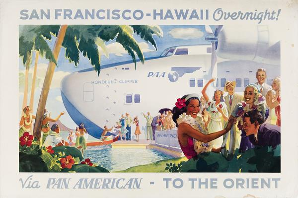 Paul George Lawler, San Francisco – Hawaii Overnight / Via Pan Am, 1939.  Estimate $10,000 to $15,000.
