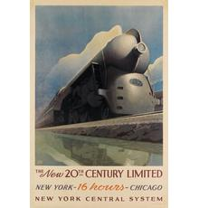 Leslie Ragan, The New 20th Century Limited, 1939.  Estimate $8,000 to $12,000.