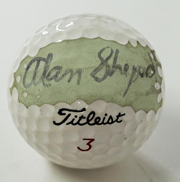 Golf ball signed by America's very first man in space, Alan Shepard (est.  $4,000-$6,000).  Shepard signed it for the consignor – a former friend of the astronaut.