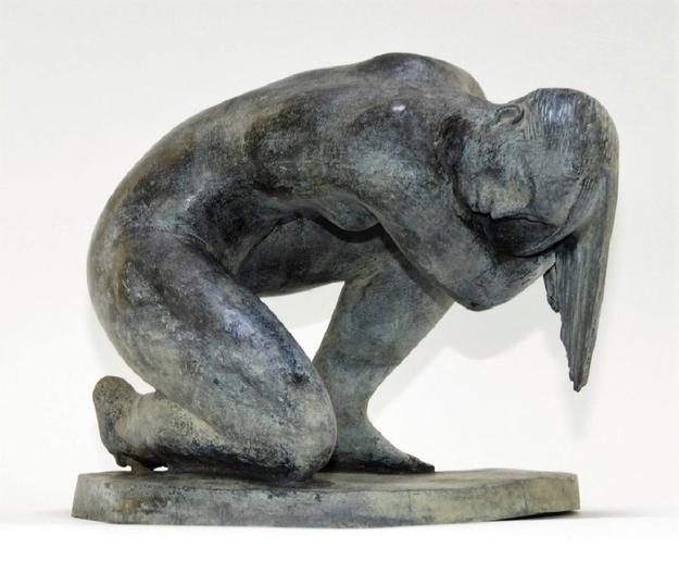 The sale's expected top lot is this bronze sculpture by Mexican-born realist Enrique Alferez (La./Tex., 1901-9999), titled The Bather (1983), 8.25 inches tall (est.  $10,000-$15,000).