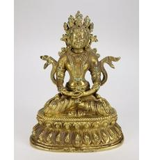 19th century Tibeto-Chinese gilt bronze figure of a seated White Tara, diminutive at 5 inches tall (est.  $2,000-$3,000).