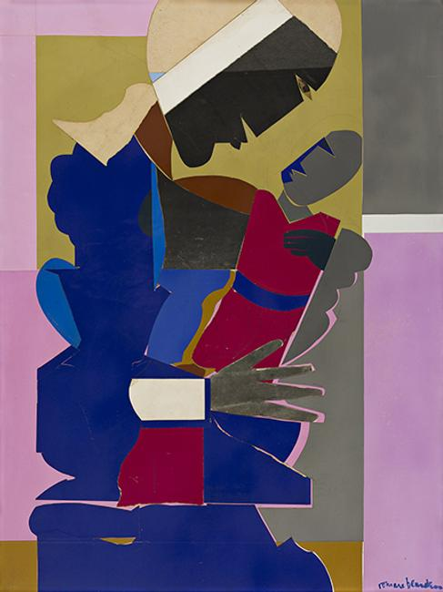 Romare Bearden, Woman and Child, collage, 1968.  Estimate $150,000 to $250,000.