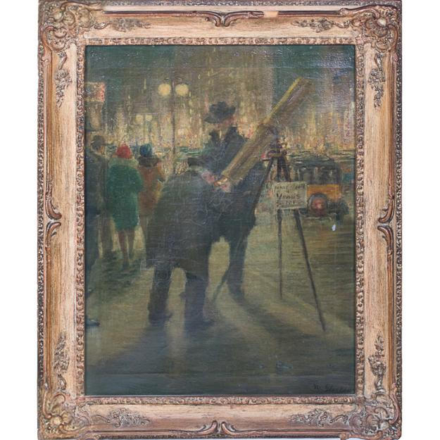 Lot 8A - William James Glackens, New York City street scene