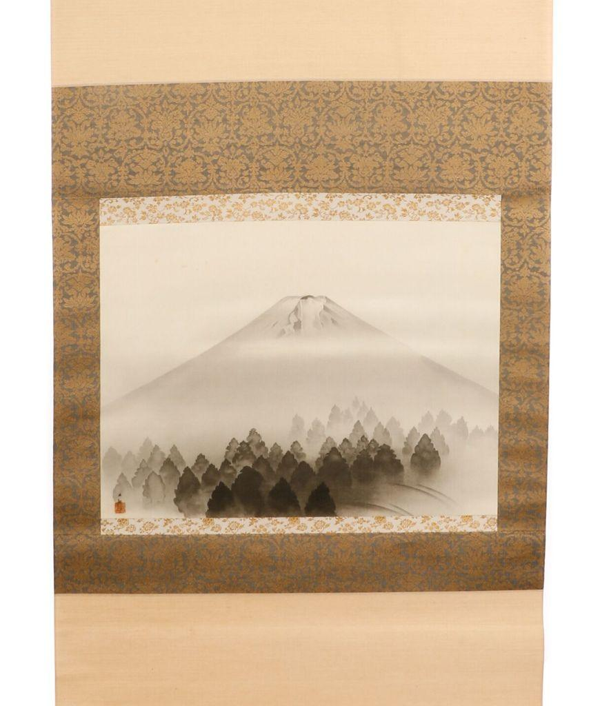 This ink painting on a silk scroll by the renowned Japanese artist Yokoyama Taikan (1868-1958), titled Mt.  Fuji, is expected to sell for $40,000-$60,000.