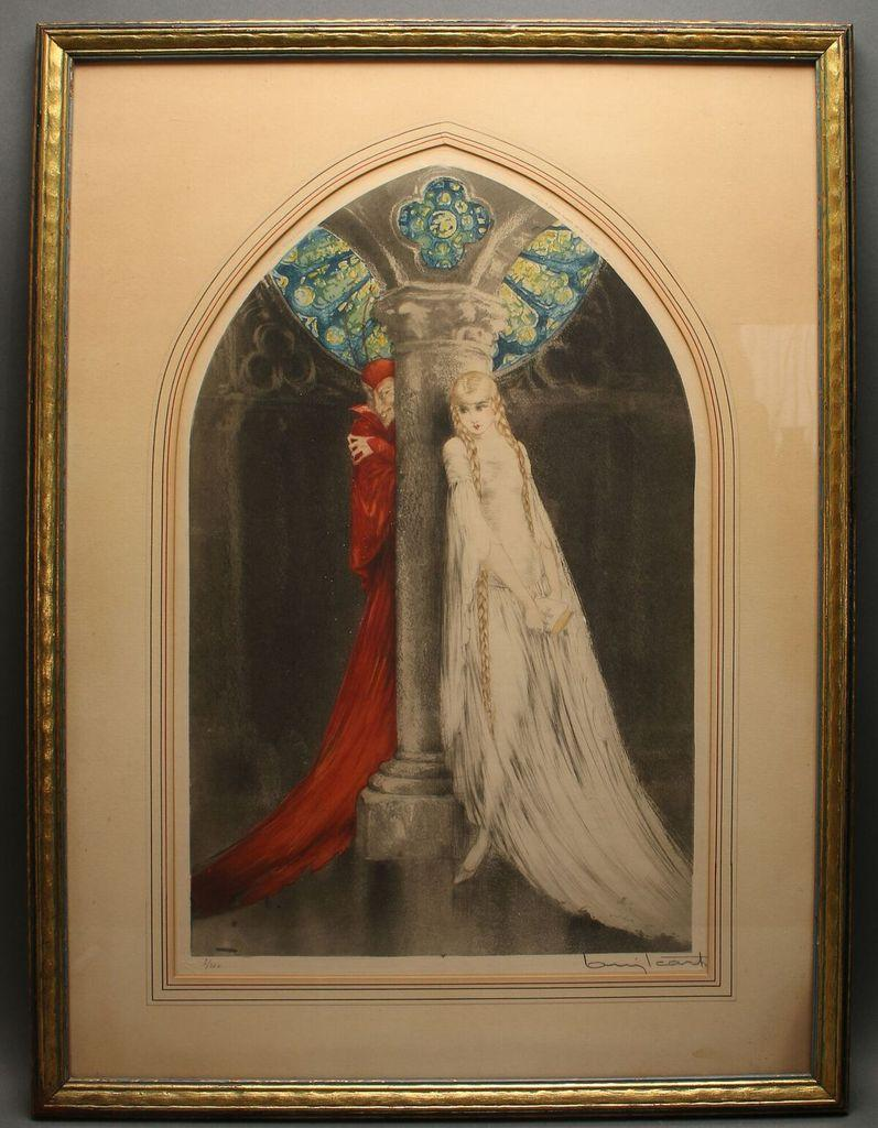 Faust print by French artist Louis Icart (1880-1950), signed and numbered (est.  $1,000-$1,500).