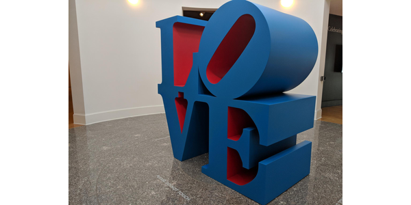 Robert Indiana, LOVE, 1996, Museum purchase, 1999.8