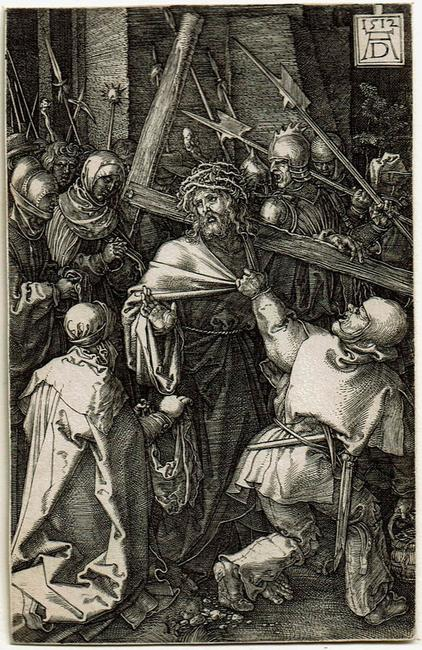 Albrecht Dürer (German, 1471–1528), Christ Carrying the Cross, from the Engraved Passion series, 1512.  Engraving on paper.  Museum purchase through the Champion & Partners Acquisition Prize in Honour of Richard Hamilton (2017)