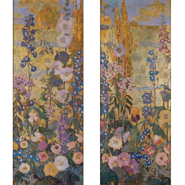 Mary Elizabeth Price, Flower Border I & 2.  Sold for a record $306,250.