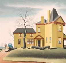 Roger Medearis (1920-2001), My Father's House, 1972, 24 x 30 inches.  Est.  $6,000 - $8,000