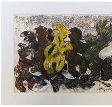 Margo Veillon, Metamorphose, 1967, Mixed media on paper, 30 x 50 cm.
