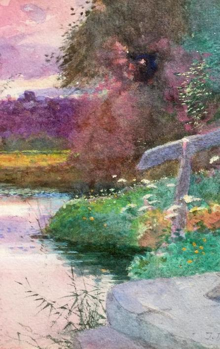 Charming English water-colour by Thomas Mackay