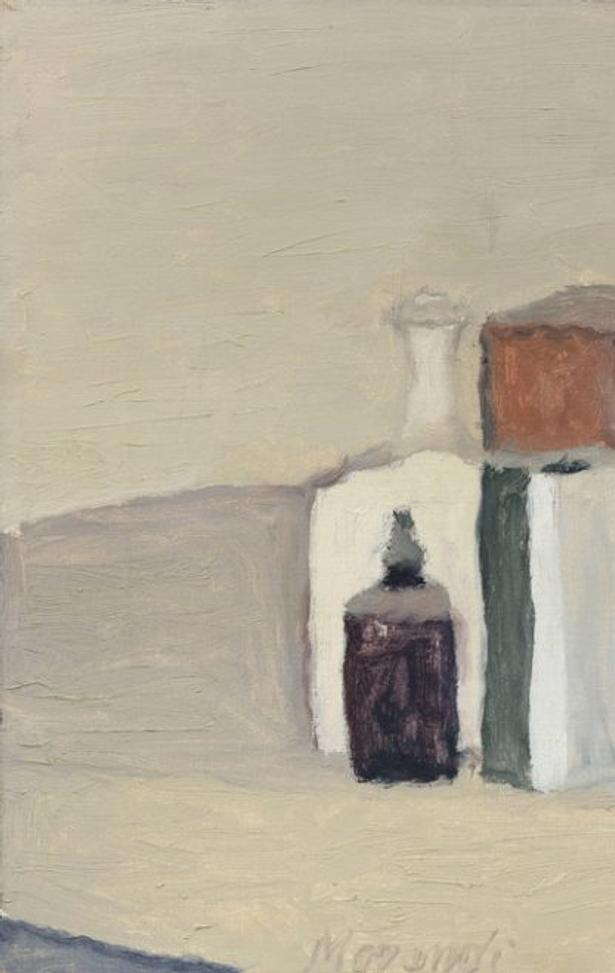 Giorgio Morandi Natura morta, 1958 oil on canvas, 11 3/4 × 13 3/4 in Paesaggio, 1942 oil on canvas, 19 5/8 × 17 3/4 in © Giorgio Morandi, by SIAE 2018