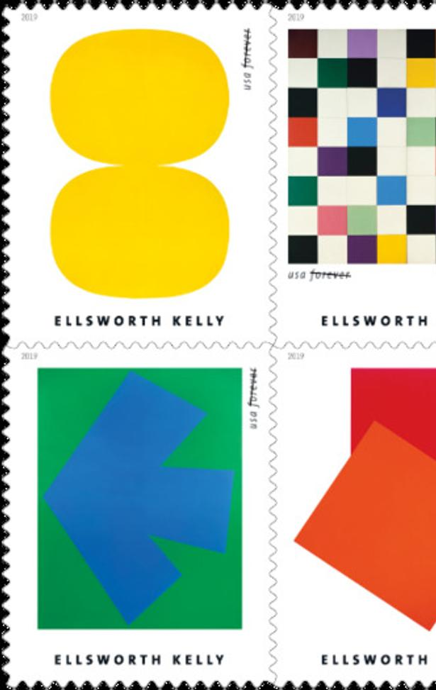 Ellsworth Kelly 2019 stamp collection from USPS.