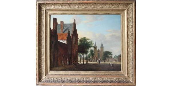 'View of a Dutch square' attributed to the Dutch 17th century painter Jan van der Heyden finally returns to the heirs of Gottlieb and Mathilde Kraus