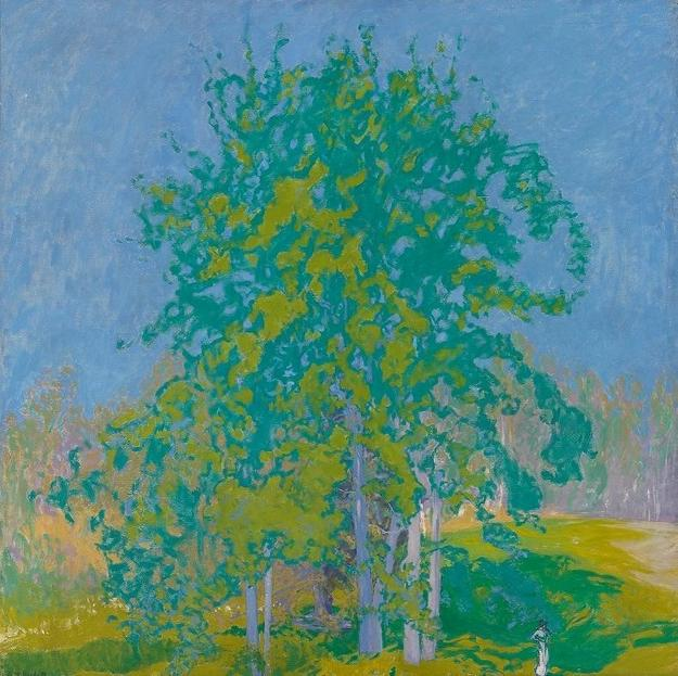 Ellen Thesleff, Decorative Landscape, 1910.  Oil on canvas, 39 4/5 x 39 4/5 in., Ateneum Art Museum / Finnish National Gallery
