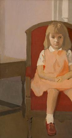 Fairfield Porter, Elizabeth in a Red Chair, 1961.  Gift of the Family of Fairfield Porter.