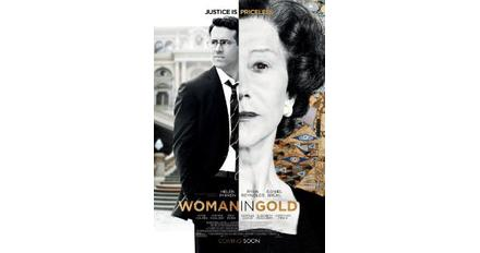 The poster for 'Woman in Gold' starring Helen Mirren and Ryan Reynolds.