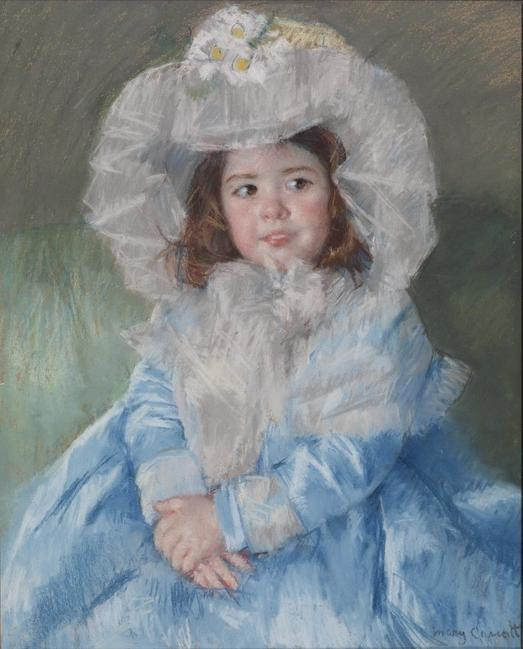 Margot in Blue (1902) by Mary Cassatt.