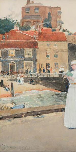 """""""Bleak House, Broadstairs,"""" by Frederick Childe Hassam (1859-1935)."""