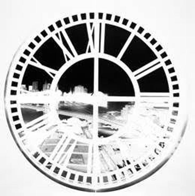 Vera Lutter (German, b.  1960), Clock Tower, Brooklyn, XLIV: June 22–23, 2009, 2009.  Unique gelatin silver print, Courtesy of the artist and Gagosian Gallery, © Vera Lutter.  Courtesy Gagosian