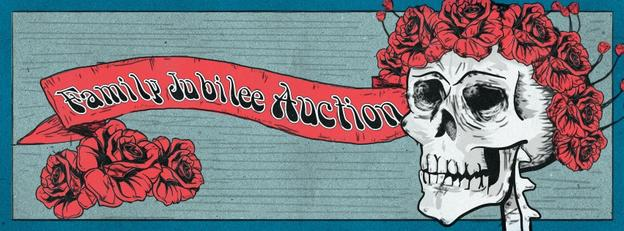 The Grateful Dead Family Jubilee Auction is April 11-12, 2015 through Donley Auction Services.