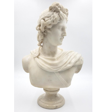 One of the more visually arresting lots in the sale is a carved marble bust of Antonius, unsigned and raised on a small marble socle, in very nice condition.  Estimate: $1,500-$2,500.