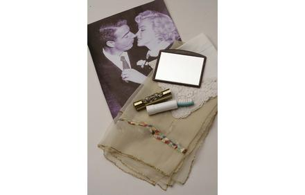 A mirror from Sakes Fifth Avenue and other personal items Monroe carried in her purse the day she married DiMaggio.