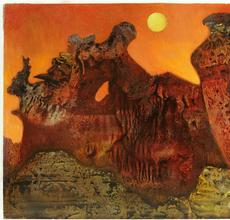 Max Ernst (1891-1976) Ohne titel (Sedona Landschaft) 1957, oil on masonite (estimate: $500,000-700,000)