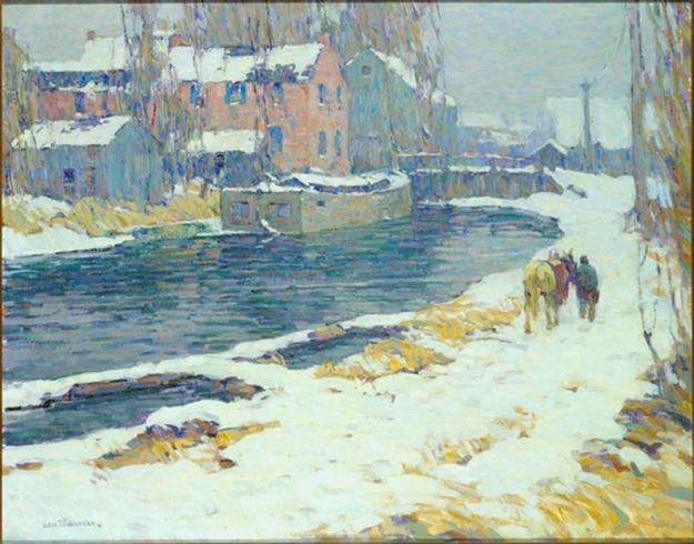 "John Fulton Follinsbee's 1920 ""Grey Thaw"" will be an addition to the Phillips Collection's New Hope paintings."