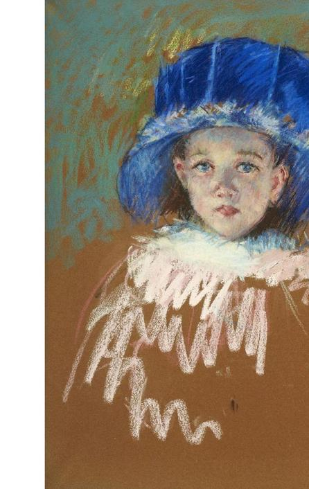 Mary Cassatt (1844-1926) Fillette au chapeau bleu Pastel 24.8 x 20.8 in $167,000-279,000