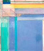 Richard Diebenkorn, Ocean Park #79, 1975.  Oil on canvas, 93 x 81 inches.  Philadelphia Museum of Art, Purchased with a grant from the National Endowment for the Arts and with funds contributed by private donors, 1977.  ©The Richard Diebenkorn Foundation.  Image courtesy the Philadelphia Museum of Art.
