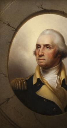 "Leading the sale was Rembrandt Peale's, ""George Washington,"" selling for $293,000 to a phone bidder with an estimate of $125,000-$175,000."