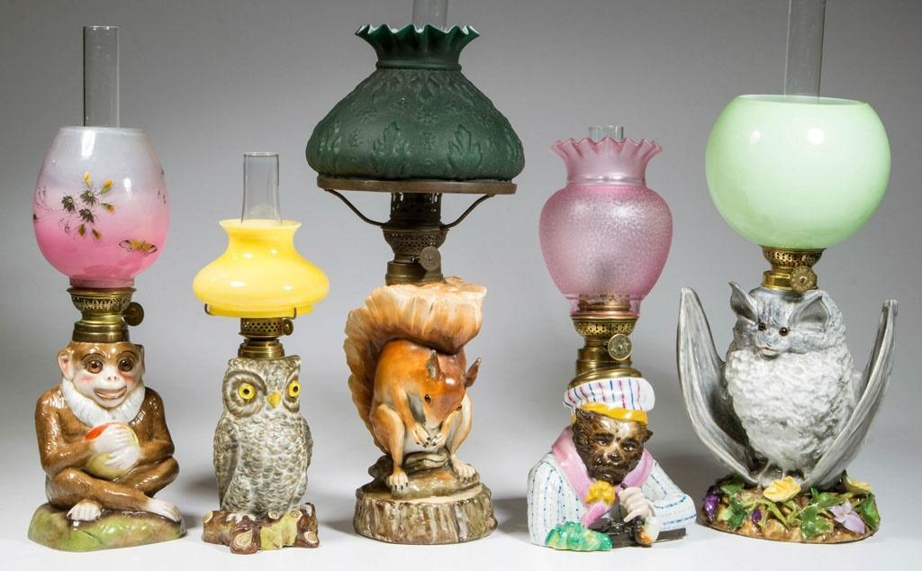 From a large selection of porcelain figural lamps from the Hornwood collection.