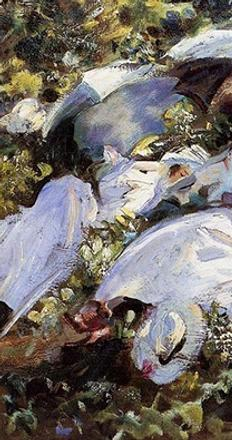 John Singer Sargent (1856–1925).  Group with Parasols (Siesta) (detail), ca.  1905.  Oil on canvas.  Private Collection.