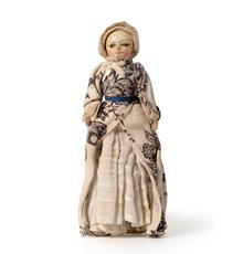 A Late 17th Century Miniature Carved and Painted Wooden Doll – Sold for £9,500 plus 24% buyer's premium.
