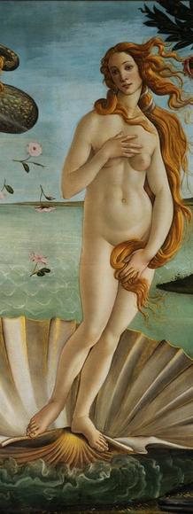 Sandro Botticelli, Birth of Venus.  Uffizzi Gallery.